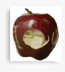 Moriarty's IOU apple - Sherlock Canvas Print