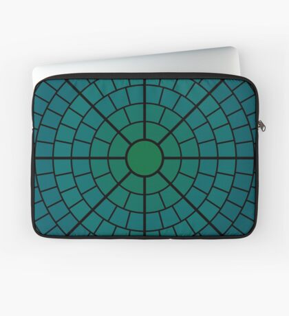 NDVH Circle One - teal Laptop Sleeve