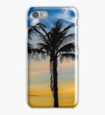Palm Trees against Sunset Sky iPhone Case/Skin