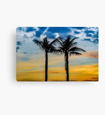 Palm Trees against Sunset Sky Canvas Print