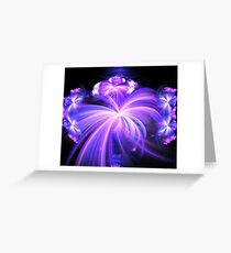 Violet Blue Wishes Greeting Card