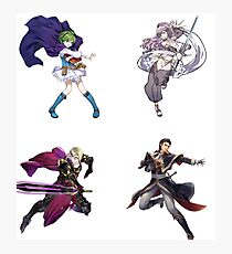 Fire Emblem Sticker Set- Nino, Xander, Reinhardt, Olivia Photographic Print