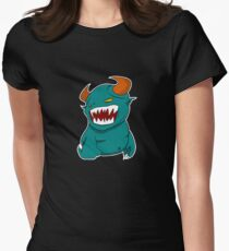 Coloured Cartoon Monster Womens Fitted T-Shirt