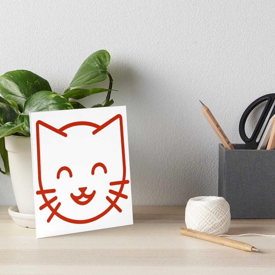 relax kitty Art Board Print