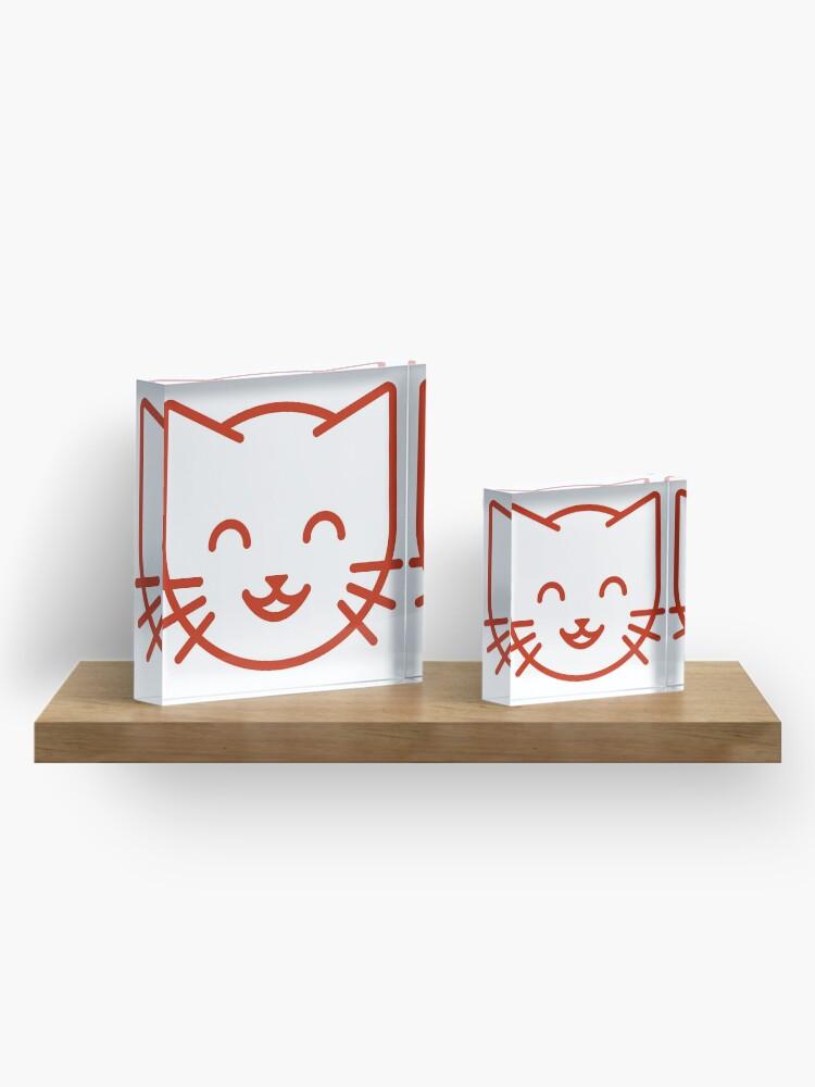 Alternate view of relax kitty Acrylic Block