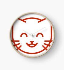 relax kitty Clock