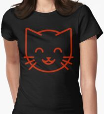 relax kitty Women's Fitted T-Shirt