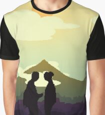 Fallout Inspired Pixel Art - Post Apocalyptic (Orange Tint) Graphic T-Shirt