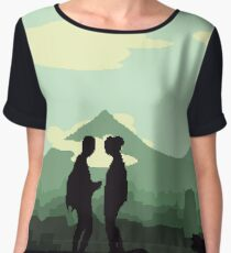 Fallout Inspired Pixel Art - Post Apocalyptic (Green Tint) Chiffon Top