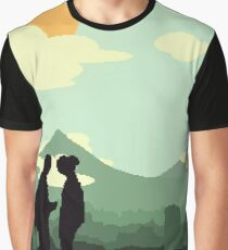 Fallout Inspired Pixel Art - Post Apocalyptic (Green Tint) Graphic T-Shirt