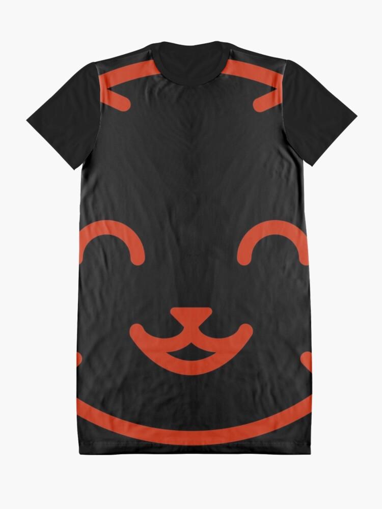 Alternate view of relax kitty Graphic T-Shirt Dress