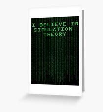 Simulation Theory Greeting Card