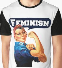 Feminism Back By Popular Demand - Rosie The Riveter Anti Trump Graphic T-Shirt