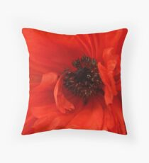 Poppy Palette Throw Pillow