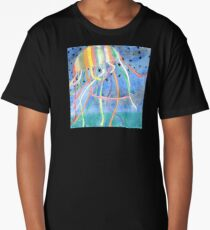 Rainbow Colored Jelly Fish  Long T-Shirt