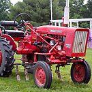 Antique International Harvester tractor by Pauline Evans