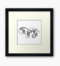 Let It Be Vintage Typography Text Rock Music Popular Concert and party Design Framed Print