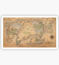 A Map of Alaetia Sticker