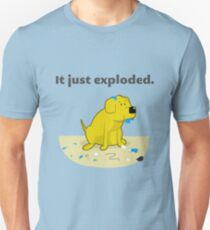 It just exploded - yellow lab Unisex T-Shirt