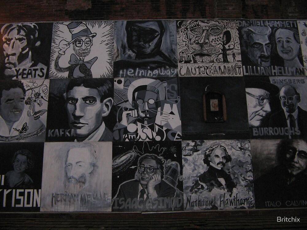 Brattle Street Book Shop Wall by Britchix