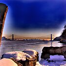 Manhattan On The Horizon by Peter Bellamy
