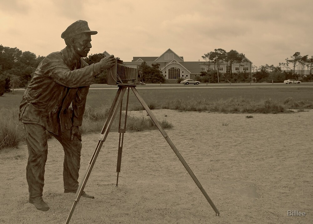 Photographer photographed at Kitty Hawk. by Billlee