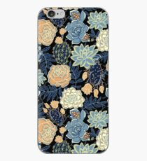 blue succulent iPhone Case
