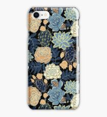 blue succulent iPhone Case/Skin
