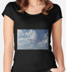 HDR Composite - Sky and Clouds Women's Fitted Scoop T-Shirt