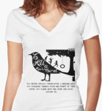 To Kill A Mocking Bird Women's Fitted V-Neck T-Shirt