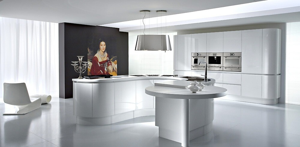 Perfect curved kitchen design by meinekuche by MeineKuche