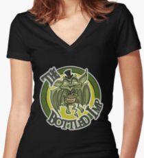 Official Bottled Imp Grocklesnook Popcorn Clothing Women's Fitted V-Neck T-Shirt