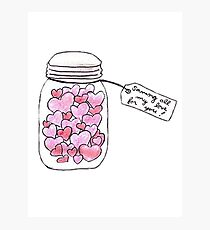 jar of hearts - saving all my love for you Photographic Print