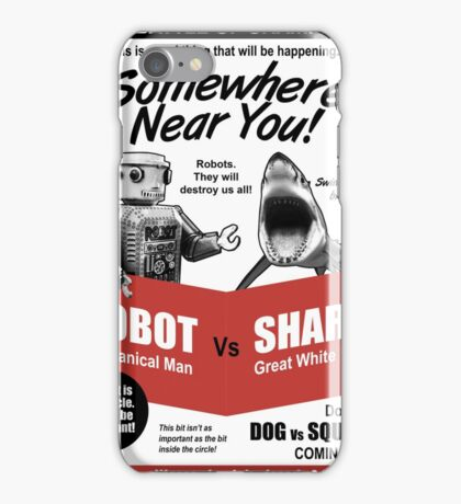 Robot vs. Shark iPhone Case/Skin