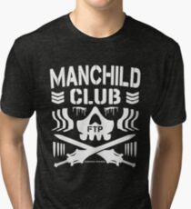 Manchild Club (Grayskull Edition Without Drop Shadow) Tri-blend T-Shirt