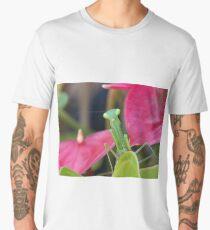 Praying Mantis - Good Morning.....I just popped in to say hello...!! Men's Premium T-Shirt