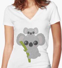 koala bear Women's Fitted V-Neck T-Shirt