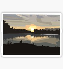 Graphical: Sunsets in Killarney Sticker