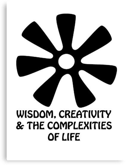 T Shirt Adinkra Symbol Creativity Canvas Prints By Keith