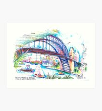 Sydney Harbour Bridge and boats Art Print