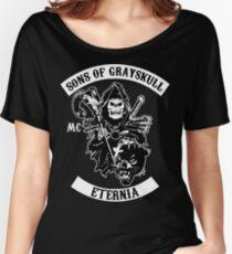 SONS OF GRAYSKULL!! (BLACK) Women's Relaxed Fit T-Shirt