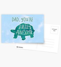 TURTLEy awesome dad! Postcards