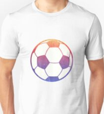 Soccer Ball Sunset Ombre Water Color Unisex T-Shirt