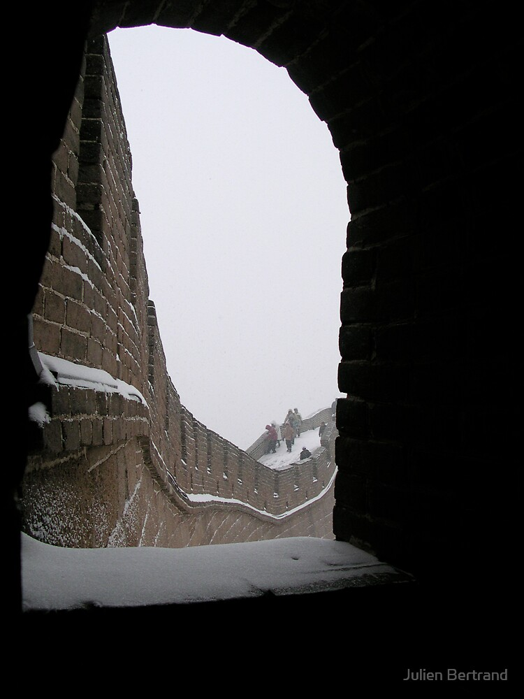 The Great Wall under the Snow by Julien Bertrand