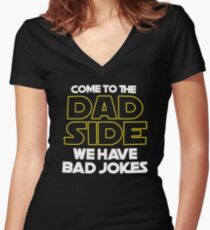 Dad Side Women's Fitted V-Neck T-Shirt