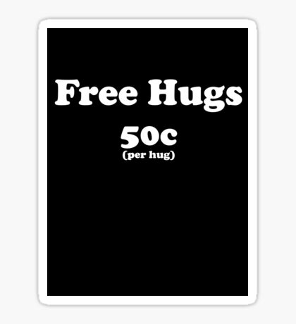 free hugs black Sticker