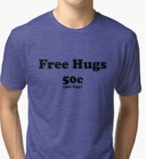 free hugs white/colour Tri-blend T-Shirt