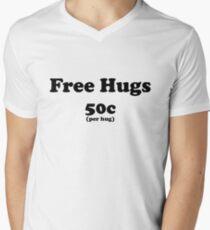 free hugs white/colour Mens V-Neck T-Shirt