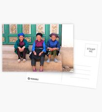 Yunnan Dali Three Old Women Posing Postcards