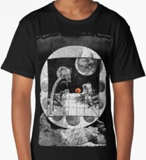 Space Moon Planet Basketball Astronaut Sports Long T-Shirt